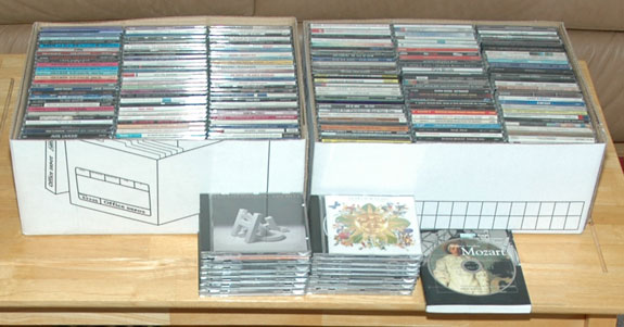 CDs that we're keeping