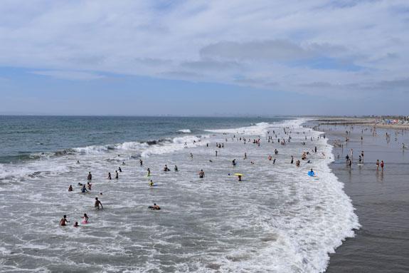 Beach-goers - Imperial Beach