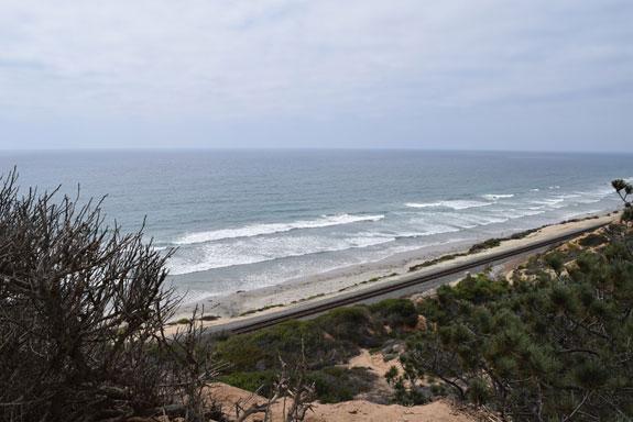 Torrey Pines Beach, looking north