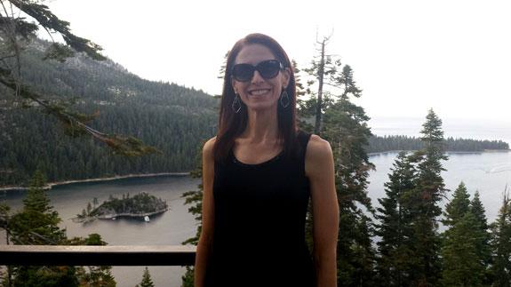 Debbie at Emerald Bay, Lake Tahoe