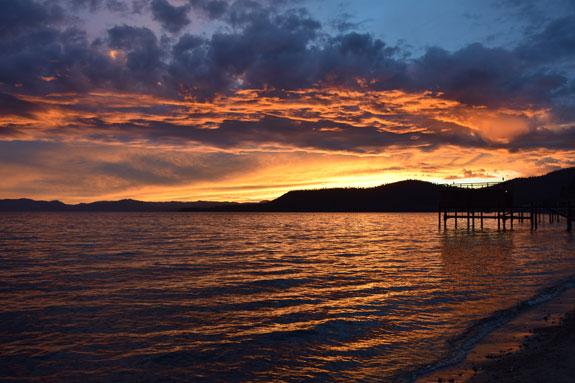 Sunset at Incline Beach