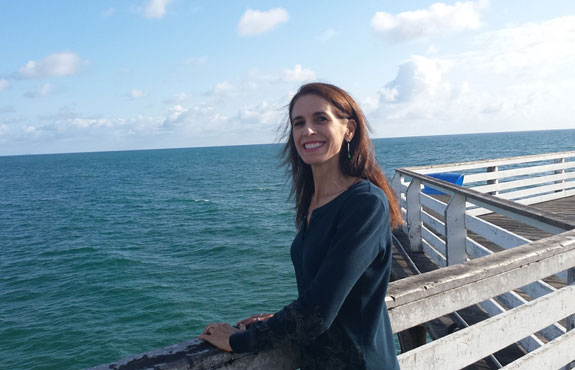 Debbie Roes on the Crystal Pier