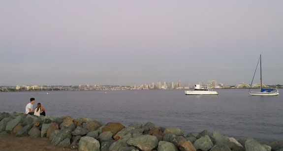 San Diego City skyline from Shelter Island
