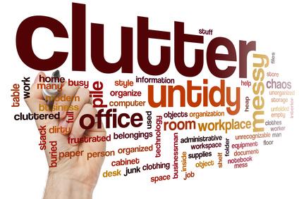 Clutter word cloud - KonMari