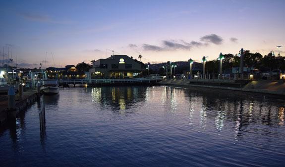 blue reflection at twilight