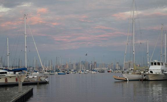 San Diego skyline with clouds