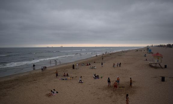 Huntington Beach view from pier