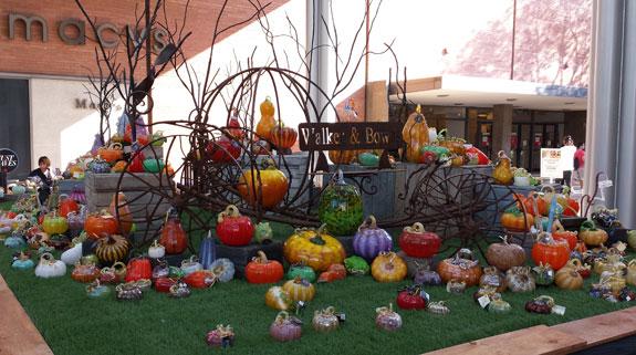 Glass pumpkins, Stanford Shopping Center