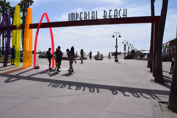 Imperial Beach pier entrance