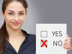 Choosing no