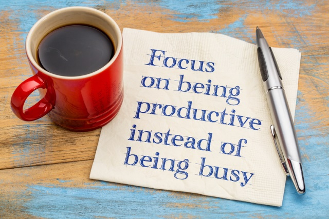 Focus on being productive instead of being busy