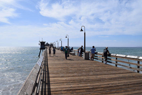 Walking on the Imperial Beach pier
