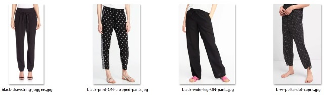 looser-fitting pants