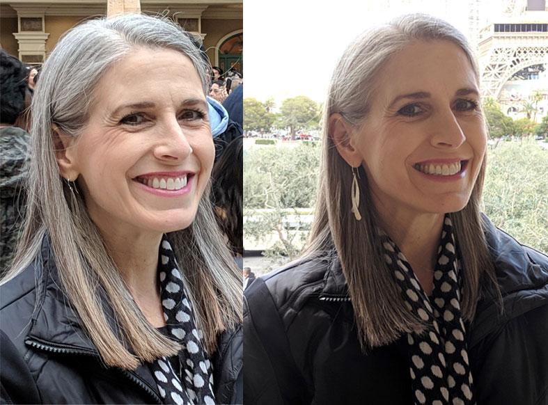 gray hair transition - december 2018