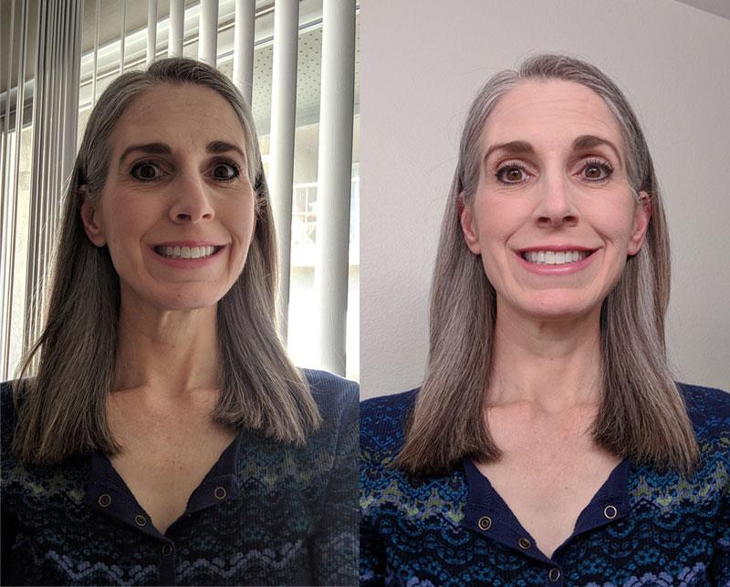 gray hair transition - february 2019