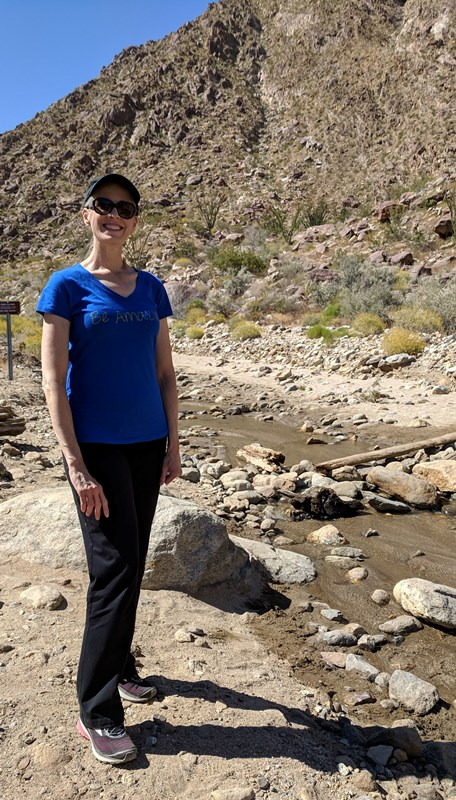 Debbie Roes on the Palm Canyon Trail, Borrego Desert