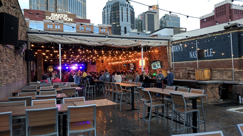 Rooftop Bar on Broadway, Nashville, Tennessee