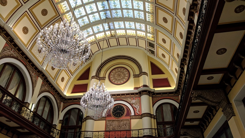Inside the Union Station Hotel, Nashville, Tennessee