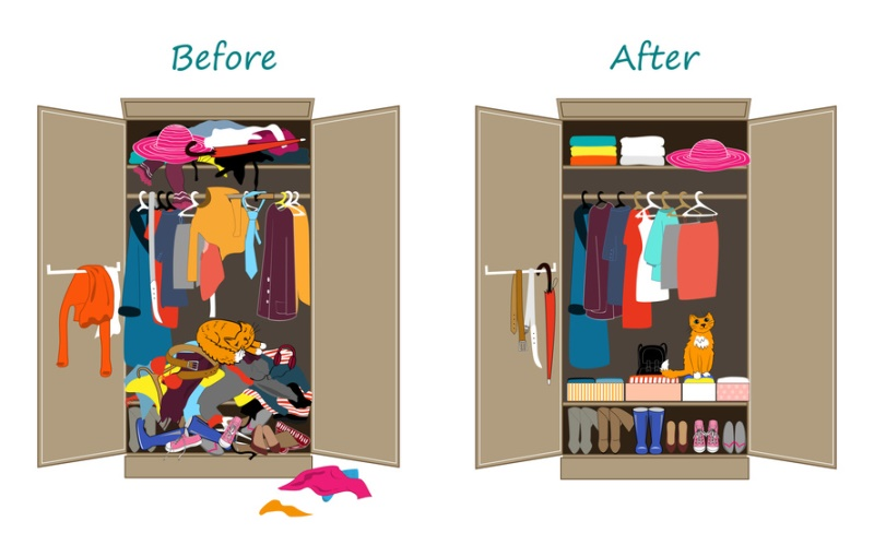 wardrobe half project before and after