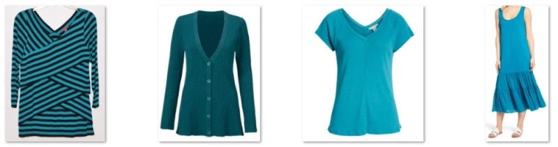 teal items in my wardrobe