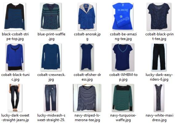 blue items