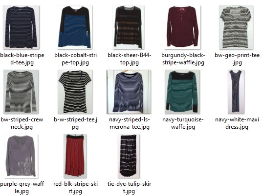 striped items