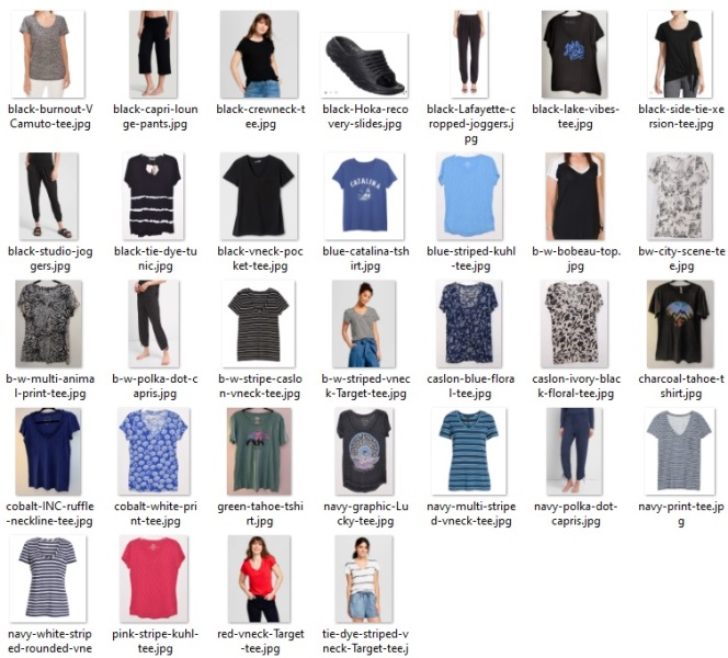 warm weather at-home uniform items