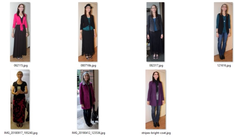 favorite outfits including black and color