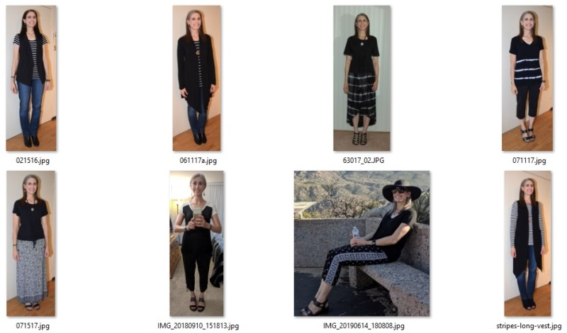 some of my favorite black and white outfits