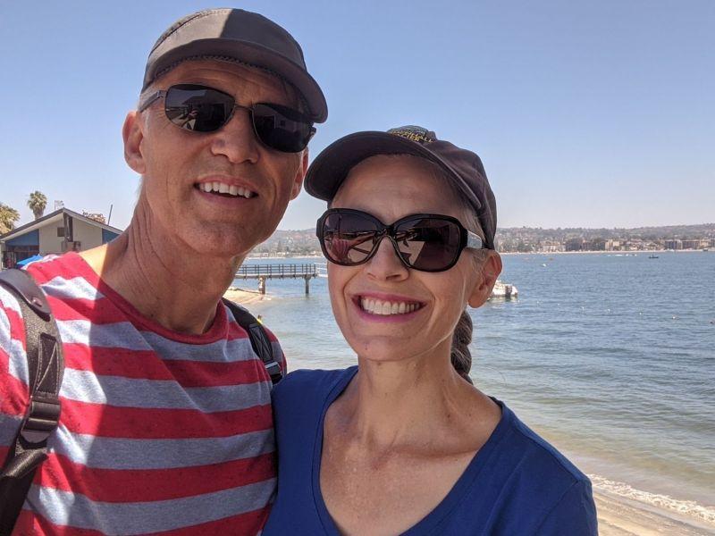 My husband and I on a walk - July 4, 2020