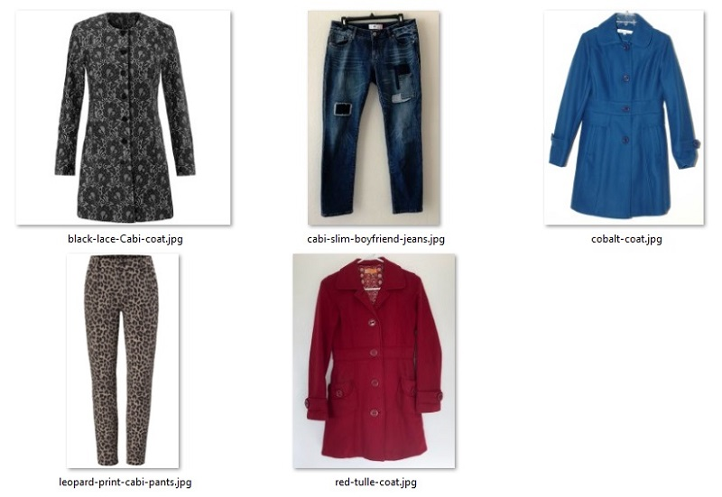 too small garments listed on eBay