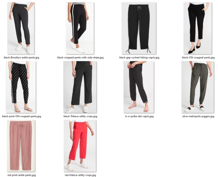 my cropped pants collection