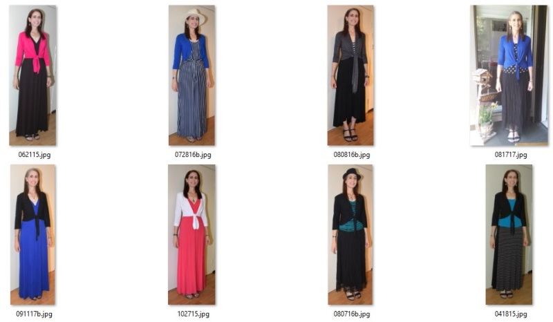 maxi skirts and dresses with tie and cropped cardis