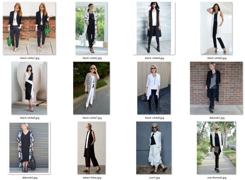 style inspiration outfits - black and white