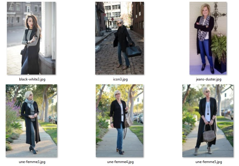 style inspiration outfits - black with denim