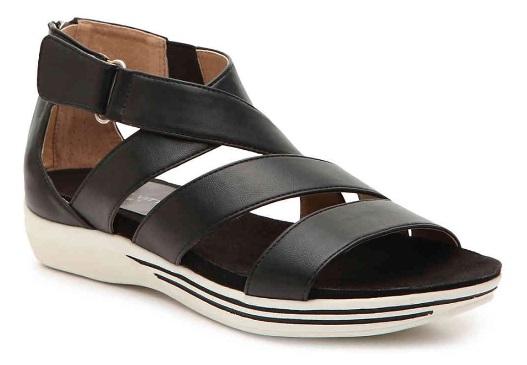 black Adrienne Vittadini flat sandals